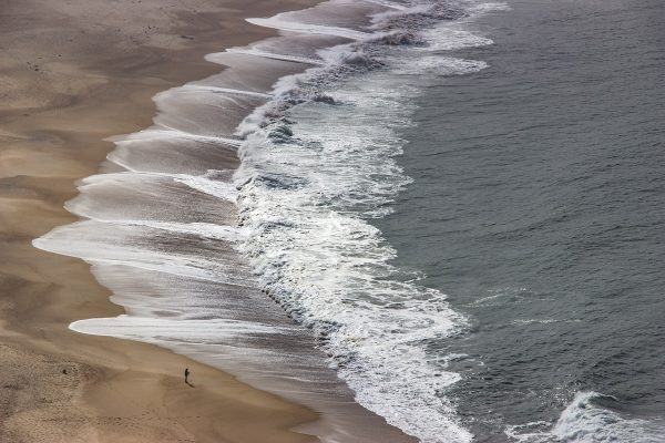 Vue sur la plage de Nazaré, depuis le Miradouro do Suberco
