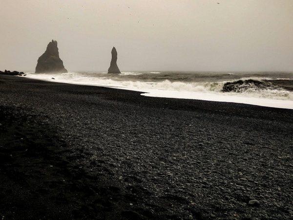 La plage de Vik, à Reynisfjara