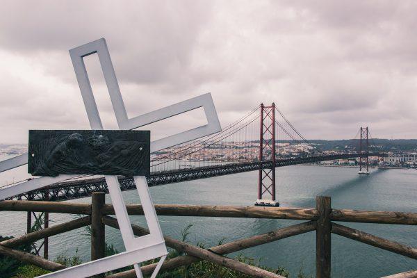 Pont du 25 Avril depuis le Cristo Rei de Lisbonne