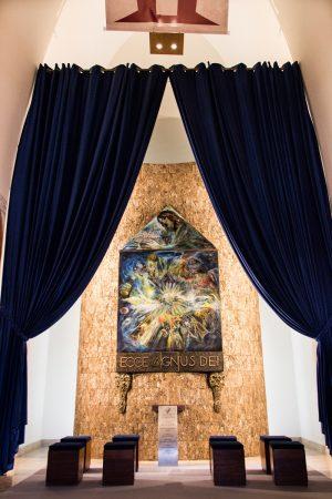 L'intérieur du sanctuaire du Cristo Rei