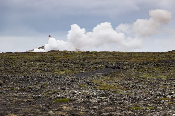 Les sources chaudes de Gunnuhver dans la péninsule de Reykjanes