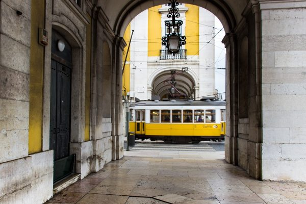Un tramway à Lisbonne