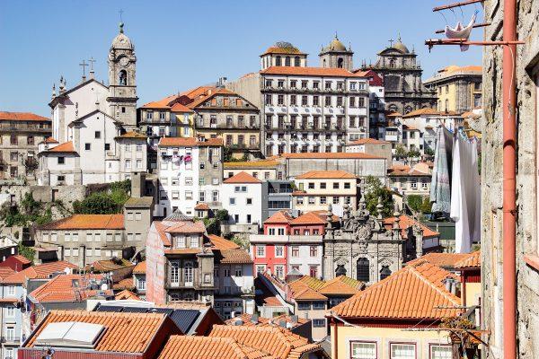 Panorama sur Porto : vue depuis le parvis de la cathédrale
