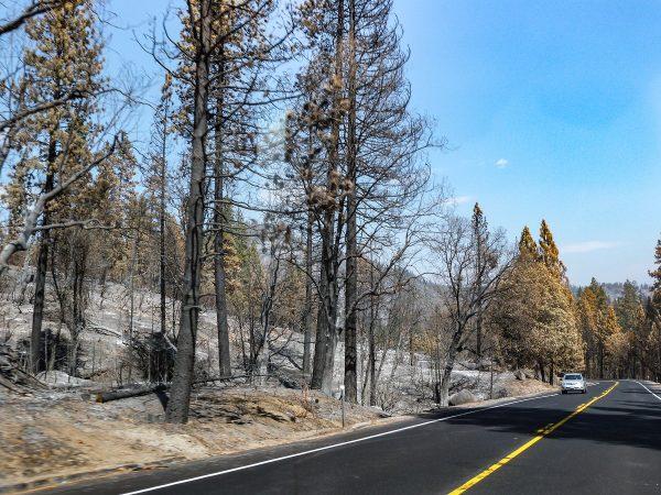 Les incendies parfois sur les routes menant à Yosemite en septembre