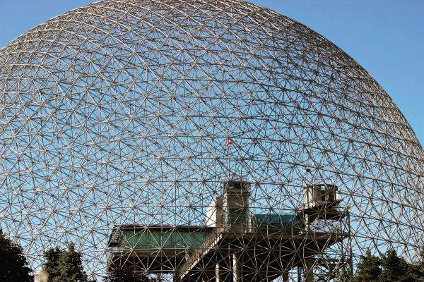 La biopshère de Montréal, dans le parc Jean Drapeau