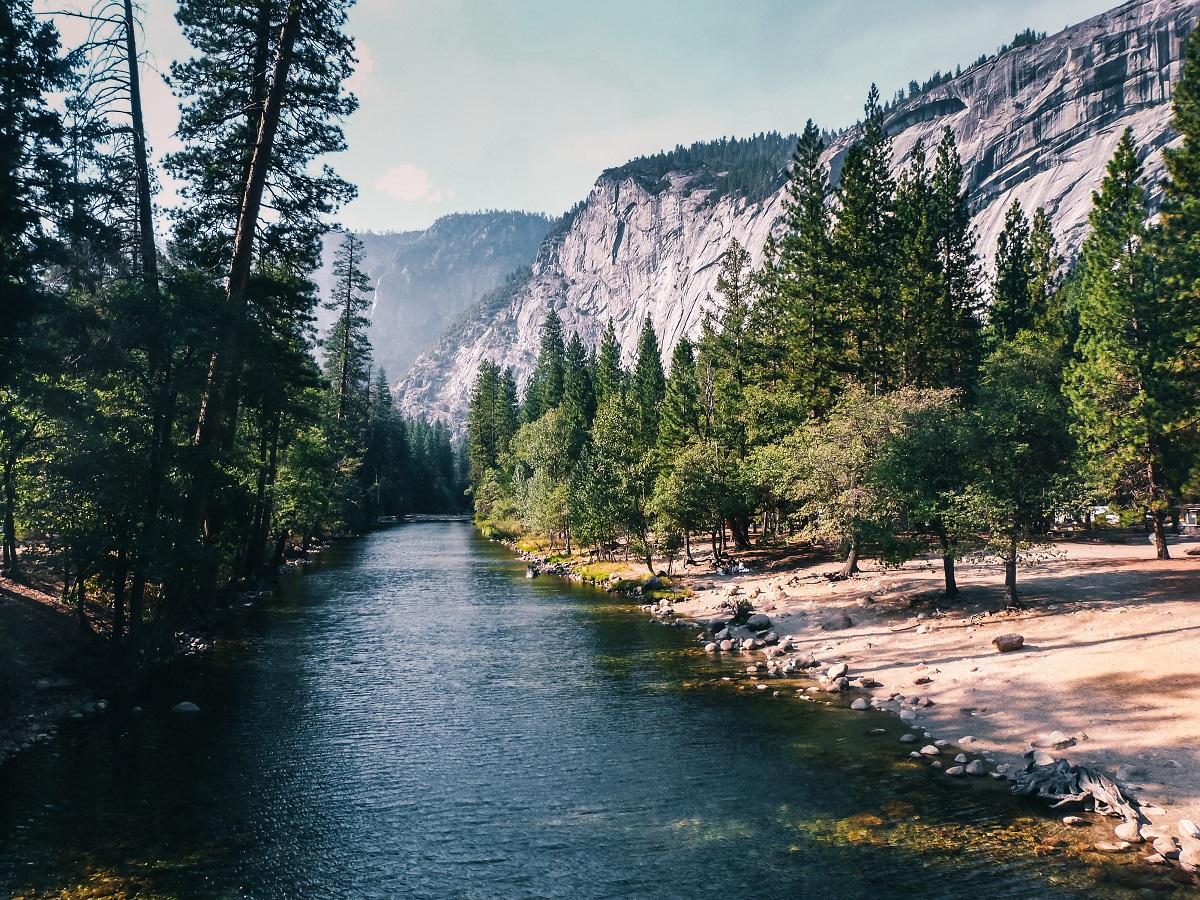 Cours d'eau dans la vallée de Yosemite