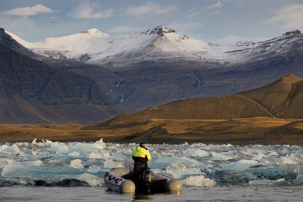 Sur le Glacier Lagoon de Jokulsarlon