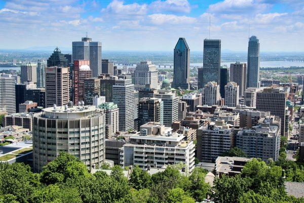 Panorama sur Montréal depuis le parc du Mont Royal