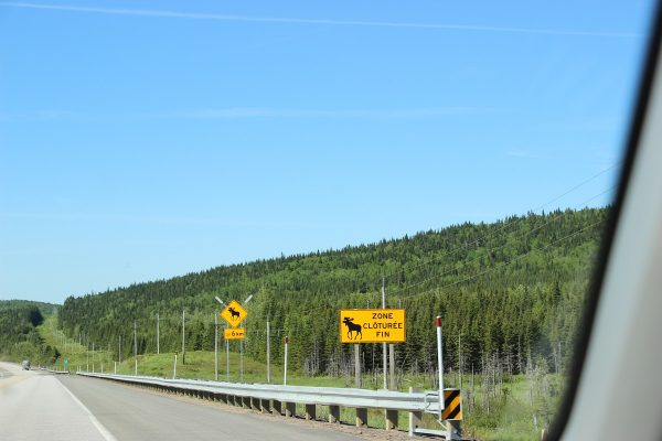 Sur la route au Québec