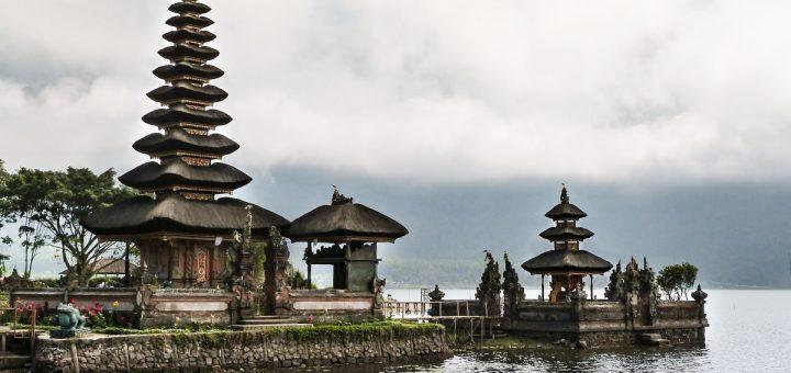 Temple Pura Ulun Danu à Bali, près de Bedugul