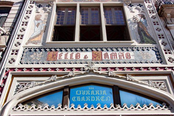 Façade de la librairie Lello de Porto