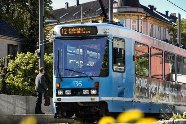 La ligne 12 du tram d'Oslo
