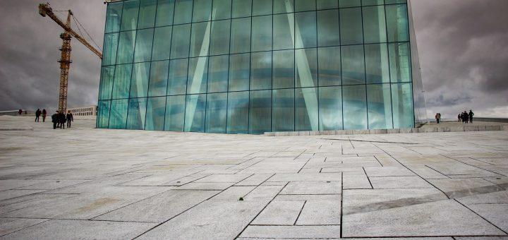 Le verre et le marbre blanc : 2 composants caractéristiques de l'opéra d'Oslo