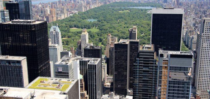 La vue sur Central Park depuis le sommet du Top of the Rock