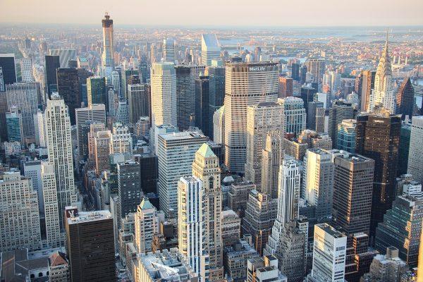 Une des vues depuis le sommet de l'Empire State Building de New-York