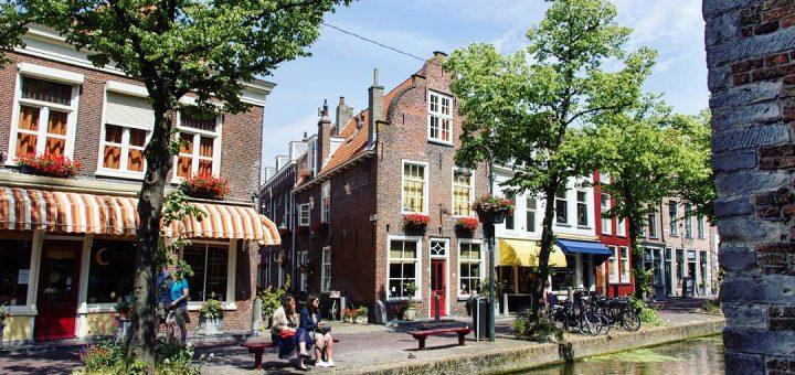 Les canaux de Delft aux Pays-Bas