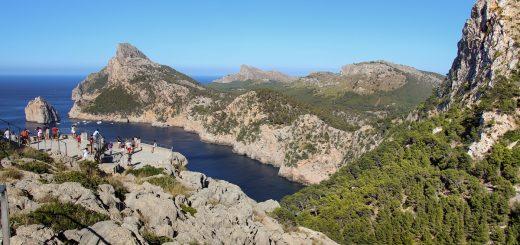 L'accès au point de vue du Mirador Es Colomer de Majorque