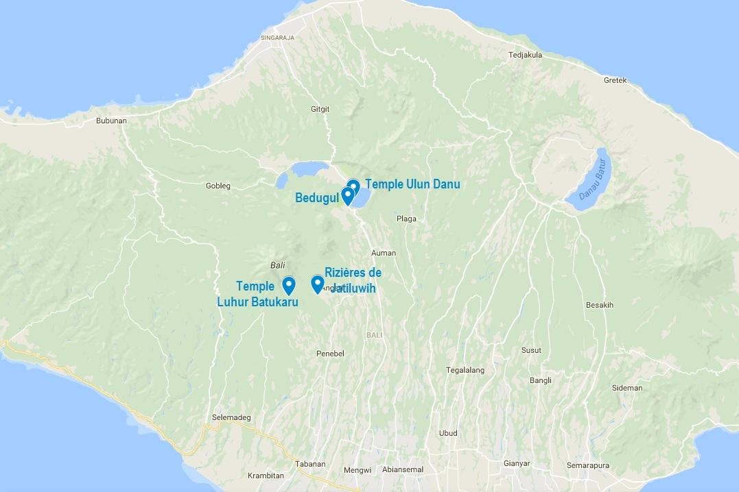 Carte Bali Que Faire.Que Faire A Bedugul Et Ses Alentours Infos Pratiques