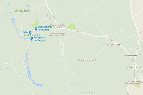Visiter Castle Combe : la carte des points à connaître