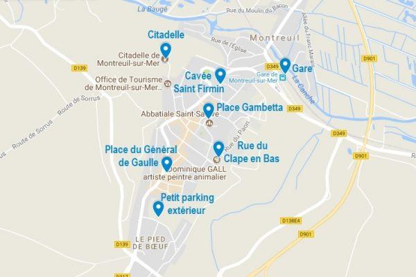 Les points d'intérêt de Montreuil sur Mer mentionnés dans cet article