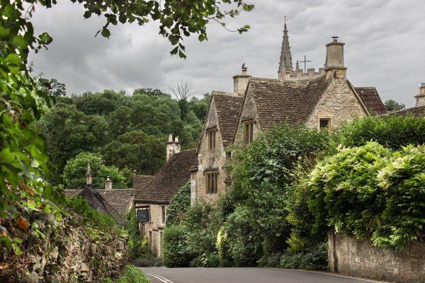 L'entrée du village de Castle Combe