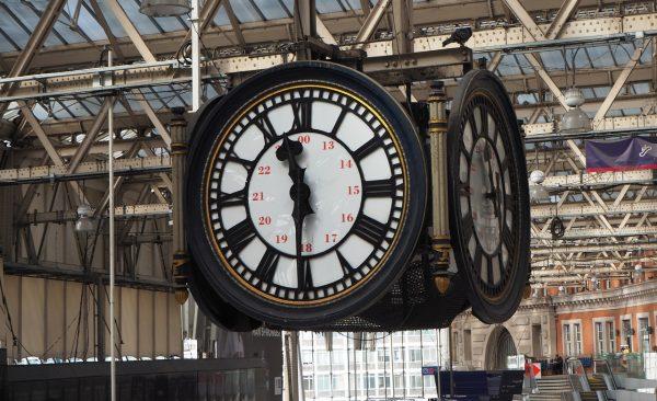 Dans la gare de Waterloo à Londres