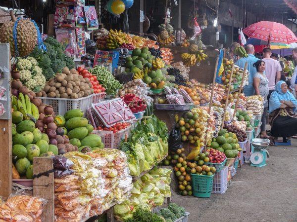 Le marché Candi Kuning à Bedugul