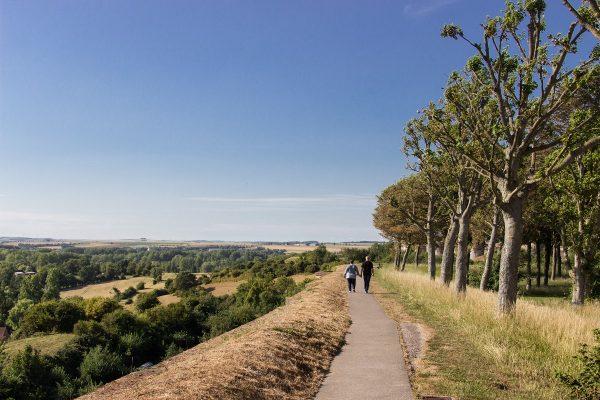 Promenade sur le remparts de Montreuil sur Mer