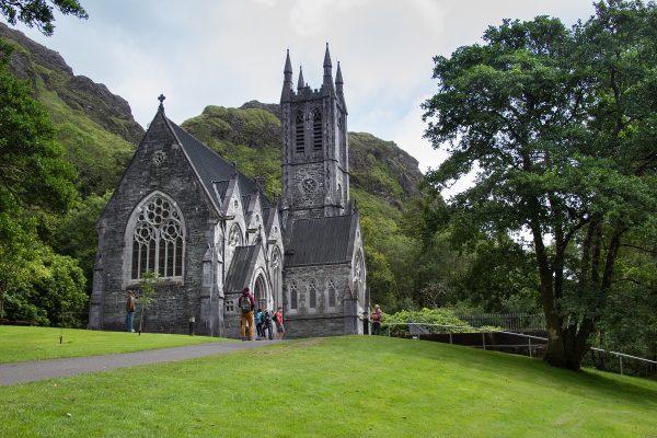 L'église néo-gothique de l'abbaye de Kylemore