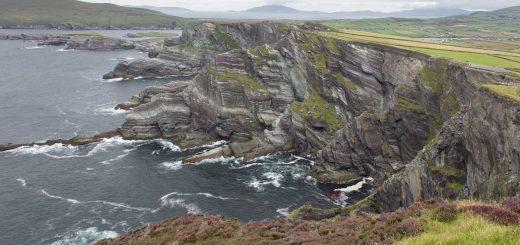 Les falaises de Kerry dans le sud-ouest de l'Irlande