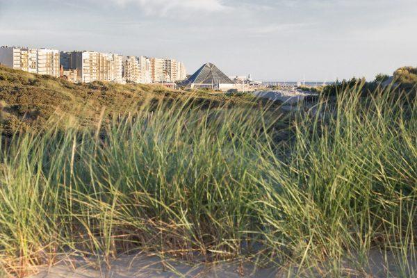 L'Aqualud du Touquet vue depuis les dunes