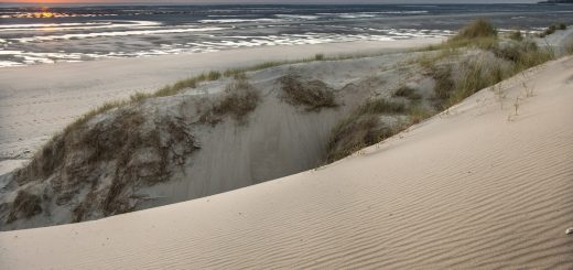 Le coucher de soleil au Touquet, depuis les dunes