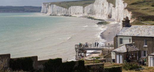 La vue sur les Seven Sisters dans le sud de l'Angleterre