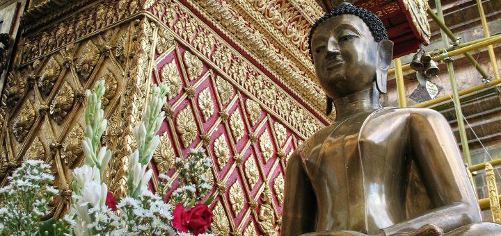 Le temple de Doi Suthep sur les hauteurs de Chiang Mai
