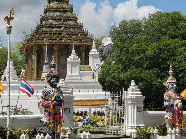 Le temple de l'empreinte de Bouddha en Thaïlande