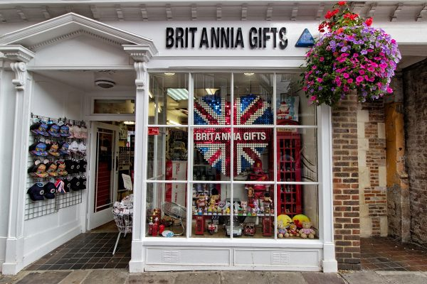 Boutique de souvenirs à Canterbury