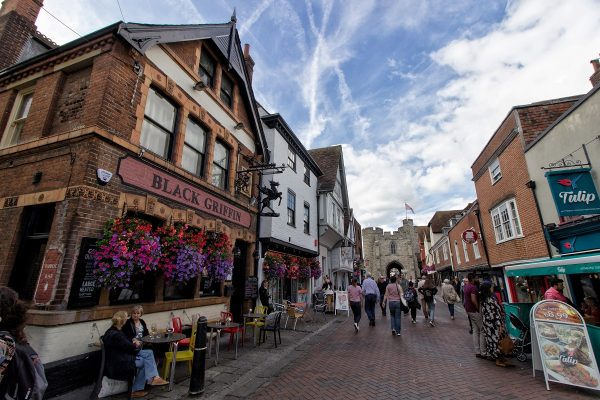 La High Street de Canterbury