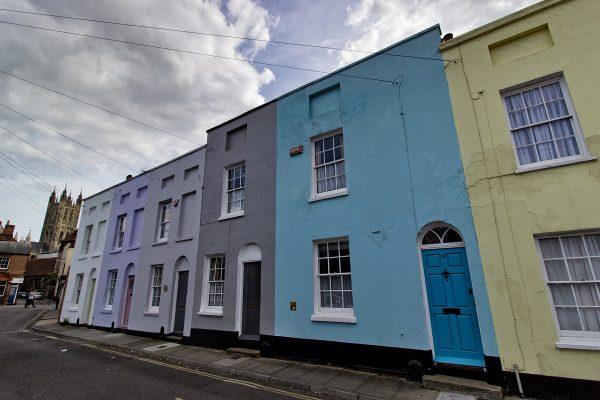 Quelques façades colorées près du centre-ville de Canterbury