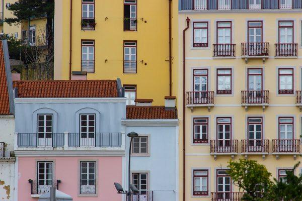 Les façades colorées du centre-ville de Lisbonne