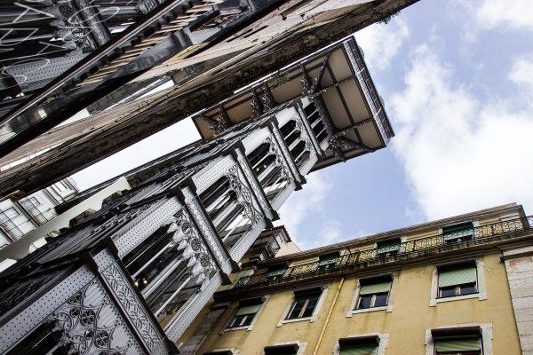 L'élévateur Santa Justa pour prendre un peu de hauteur dans le centre-ville de Lisbonne