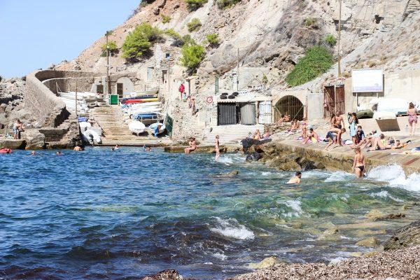 La plage de Banyalbufar à Majorque