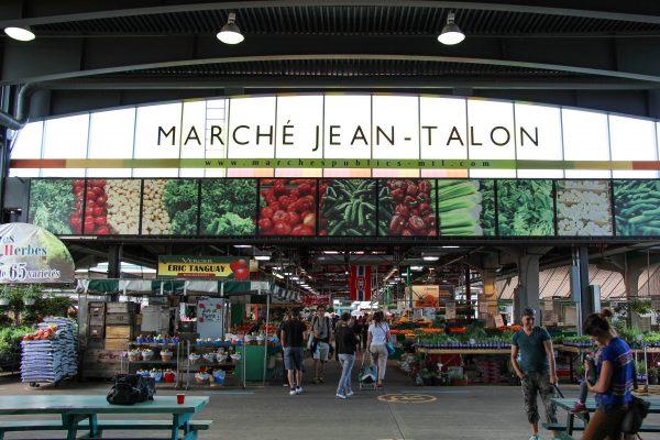L'entrée du marché Jean-Talon à Montréal