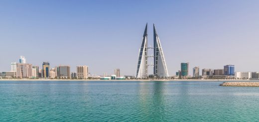 La skyline de Manama au Bahreïn