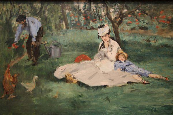 """""""La famille Monet dans son jardin d'Argenteuil"""" de Claude Monet, au MET de New-York"""