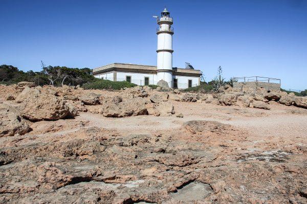 Le phare du cap de Ses Salines à Majorque