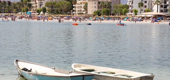 La plage d'Alcudia à Majorque