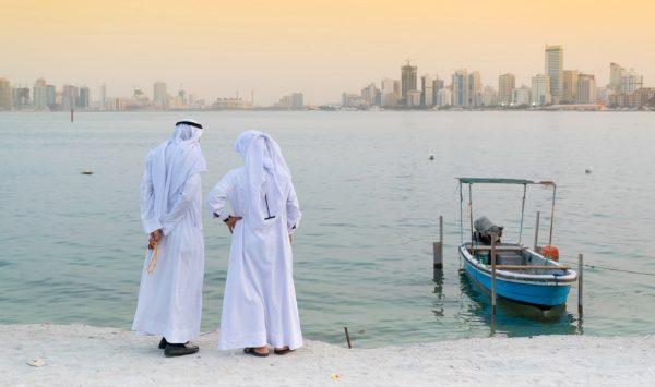 Coucher de soleil dans la baie du Bahreïn