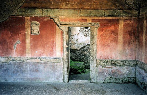 Ruines d'une maison que l'on découvre lors de la visite de Pompei