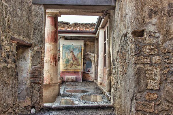 L'intérieur d'une maison à Pompei