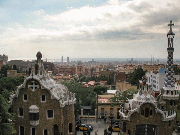 Panorama sur Barcelone depuis le parc Guell